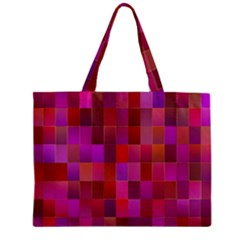 Shapes Abstract Pink Zipper Mini Tote Bag