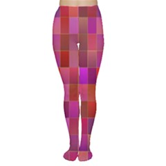 Shapes Abstract Pink Women s Tights