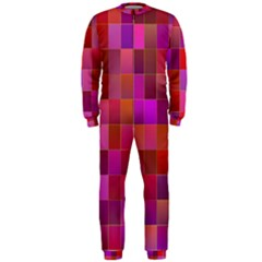 Shapes Abstract Pink Onepiece Jumpsuit (men)