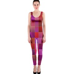 Shapes Abstract Pink Onepiece Catsuit