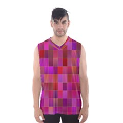 Shapes Abstract Pink Men s Basketball Tank Top