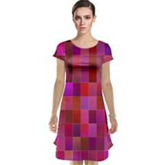Shapes Abstract Pink Cap Sleeve Nightdress