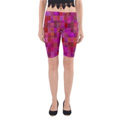 Shapes Abstract Pink Yoga Cropped Leggings