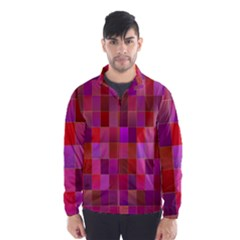 Shapes Abstract Pink Wind Breaker (Men)