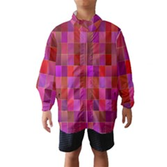 Shapes Abstract Pink Wind Breaker (Kids)