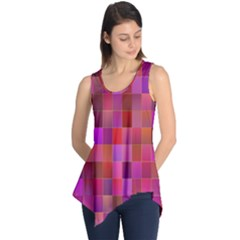 Shapes Abstract Pink Sleeveless Tunic