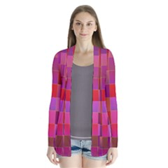Shapes Abstract Pink Cardigans