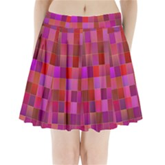 Shapes Abstract Pink Pleated Mini Skirt