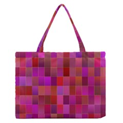 Shapes Abstract Pink Medium Zipper Tote Bag