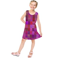 Shapes Abstract Pink Kids  Tunic Dress