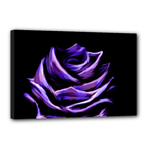 Rose Flower Design Nature Blossom Canvas 18  X 12