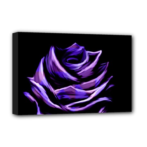 Rose Flower Design Nature Blossom Deluxe Canvas 18  x 12