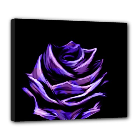 Rose Flower Design Nature Blossom Deluxe Canvas 24  X 20