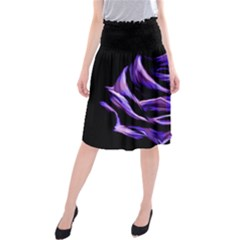 Rose Flower Design Nature Blossom Midi Beach Skirt