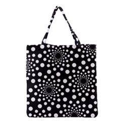 Dot Dots Round Black And White Grocery Tote Bag