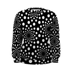 Dot Dots Round Black And White Women s Sweatshirt