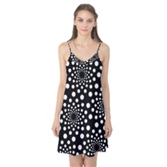 Dot Dots Round Black And White Camis Nightgown