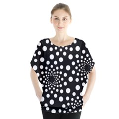 Dot Dots Round Black And White Blouse