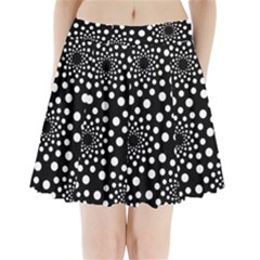 Dot Dots Round Black And White Pleated Mini Skirt