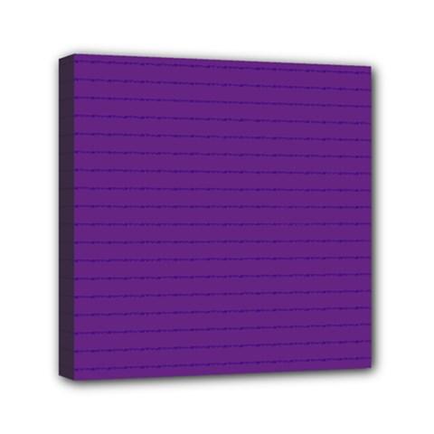 Pattern Violet Purple Background Mini Canvas 6  X 6
