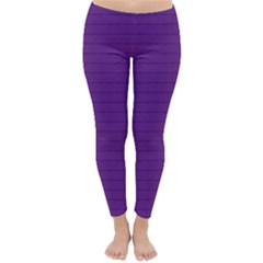 Pattern Violet Purple Background Classic Winter Leggings