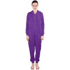 Pattern Violet Purple Background Hooded Jumpsuit (ladies)
