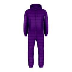 Pattern Violet Purple Background Hooded Jumpsuit (Kids)