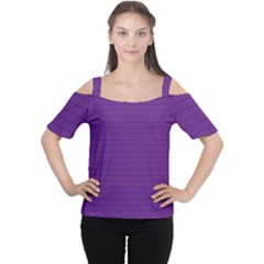 Pattern Violet Purple Background Women s Cutout Shoulder Tee