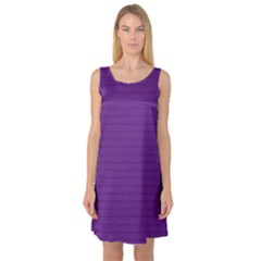 Pattern Violet Purple Background Sleeveless Satin Nightdress
