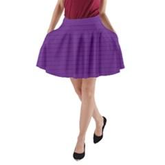Pattern Violet Purple Background A Line Pocket Skirt