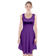 Pattern Violet Purple Background Racerback Midi Dress