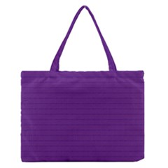 Pattern Violet Purple Background Medium Zipper Tote Bag