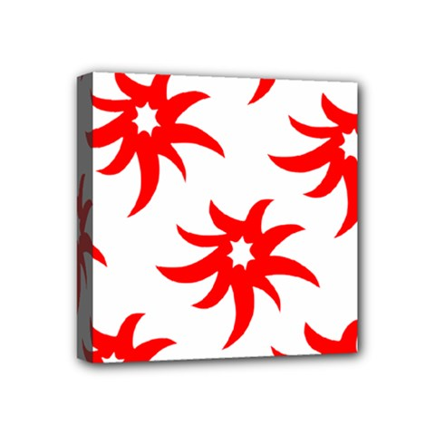Star Figure Form Pattern Structure Mini Canvas 4  X 4