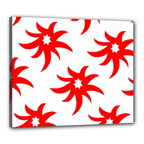 Star Figure Form Pattern Structure Canvas 24  x 20