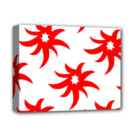 Star Figure Form Pattern Structure Deluxe Canvas 14  x 11