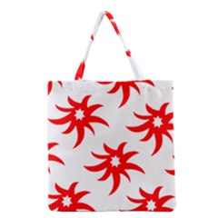 Star Figure Form Pattern Structure Grocery Tote Bag