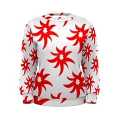 Star Figure Form Pattern Structure Women s Sweatshirt