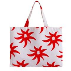 Star Figure Form Pattern Structure Zipper Mini Tote Bag