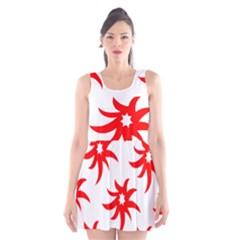 Star Figure Form Pattern Structure Scoop Neck Skater Dress