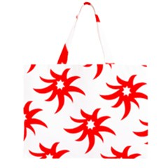 Star Figure Form Pattern Structure Large Tote Bag