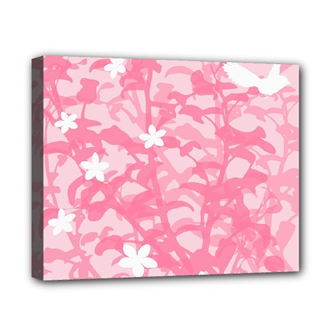 Plant Flowers Bird Spring Canvas 10  x 8
