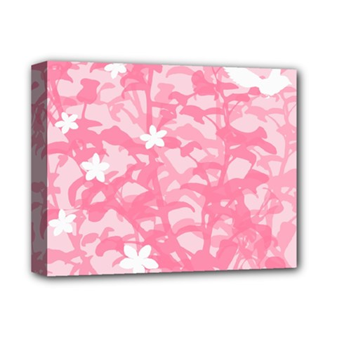 Plant Flowers Bird Spring Deluxe Canvas 14  x 11