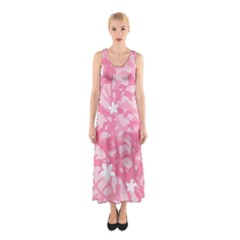 Plant Flowers Bird Spring Sleeveless Maxi Dress