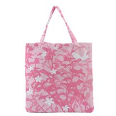 Plant Flowers Bird Spring Grocery Tote Bag