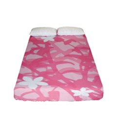 Plant Flowers Bird Spring Fitted Sheet (full/ Double Size)