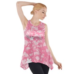 Plant Flowers Bird Spring Side Drop Tank Tunic