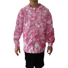 Plant Flowers Bird Spring Hooded Wind Breaker (Kids)