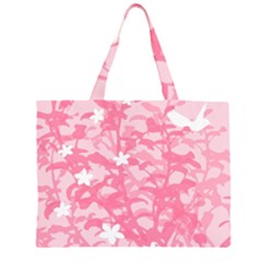 Plant Flowers Bird Spring Large Tote Bag
