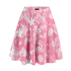 Plant Flowers Bird Spring High Waist Skirt