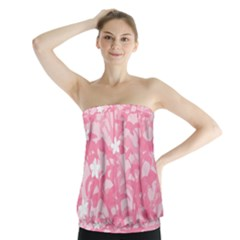 Plant Flowers Bird Spring Strapless Top